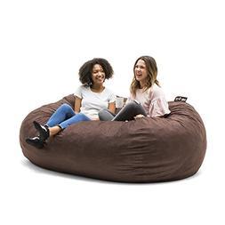 Big Joe 0001656 Fuf Foam Filled Bean Bag Chair, XXL, Cocoa L