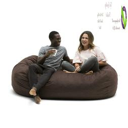 Big Joe 0002656 Media Lounr Foam Filled Bean Bag Chair, Coco