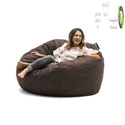 Big Joe 0010656 Fuf Foam Filled Bean Bag Chair, Lar, Cocoa L