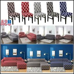 1 2 3 4 Seat L-Shape Home Sofa Chair Covers Polyester Fabric