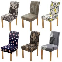 1/4/6 Spandex Polyester Printed Home Dining Stretch Chair Co
