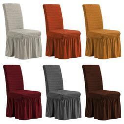 1/4/6pcs Bubble Lattice Elastic Chair Covers Spandex Dining