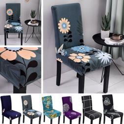 1-4PCS Stretchy Chair Covers Slipcover Dining Room Party Ban