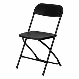 10 Black Plastic Folding Chairs Indoor Outdoor All Events 30