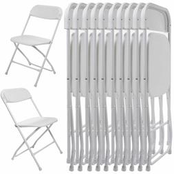 10 PC Commercial Wedding Quality Stackable Plastic Folding C