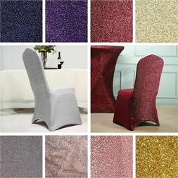 10 pcs Metallic Spandex Elastic Stretchable CHAIR COVERS Wed