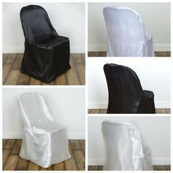10 pcs Satin Folding CHAIR COVERS Wedding Catering Party Sup