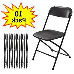 10 Plastic Folding Chairs Wedding Banquet Seat Premium Party