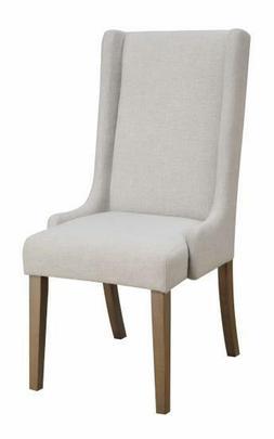 Coaster Home Furnishings 100353 Side Chair Beige Brown Set o