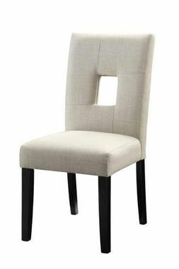Coaster Home Furnishings 106652 Side Chair Beige/Cappuccino