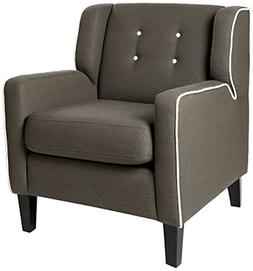 Homelegance 1218 Upholstered Arm Chair,  Gray, Fabric