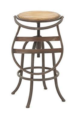 "Deco 79 14909 Metal Wood Bar Chair, 16"" x 44"""