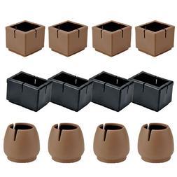 16pcs Chair Legs Caps Feet Pad Furniture Table Cover Wood Fl