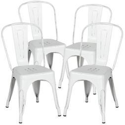 Classic Iron Metal Dinning Chair Indoor Outdoor Stackable Co