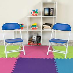 2 Pack Kids Plastic Folding Chair Daycare Home School Furnit