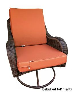 2 PACK Outdoor Waterproof Seat Chair Patio Cushion Memory Fo