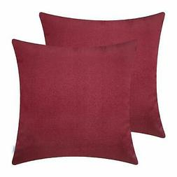 CaliTime 2 Pack Soft Throw Pillow Covers Cases for Couch Sof