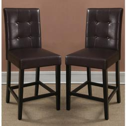 """2 pc Dining High Counter Height Side Chair Bar Stool 24""""H Es"""