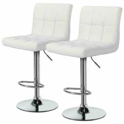 2 PCS Adjustable Bar Stools Counter Height PU Leather Barsto