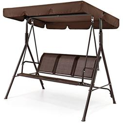 Outdoor 2 Person Patio Canopy Swing Weather Resistant Powder