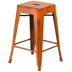 24 Bar Stool, Orange
