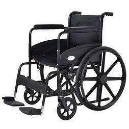 Giantex 24'' Lightweight Foldable Medical Wheelchair w/ Foot