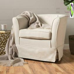 Christopher Knight Home 298869 Cecilia Swivel Chair, Natural