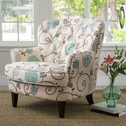 Christopher Knight Home 299126 Tafton Arm Chair, White + E