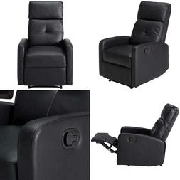 Christopher Knight Home 299401 Teyana Black Leather Recliner