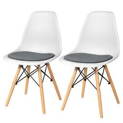 2PCS Dining Chair Mid Century Modern DSW Chair Furniture W/