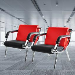 2PCS Office Reception Chairs Waiting Room Visitor Guest Stoo