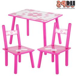 3 PCS Dining Set Table and 2 Chairs Kitchen Furniture Home F