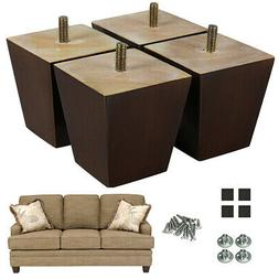 3'' Wooden Sofa Legs Mid-century Furniture Legs For Couch Ch