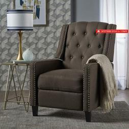 Great Deal Furniture 302094 Ingrid Recliner Chair, Coffee +