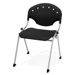 """OFM 305-P0 Rico Stack Chair, 18"""" Height, Black"""