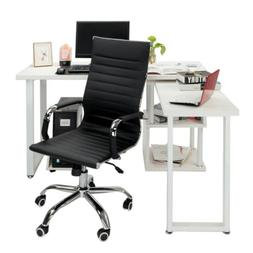360° Swivel Office Chair Adjustable Leather Comfortable Hig