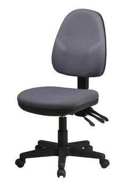 """OFFICE STAR 36420-226 Desk Chair,Fabric,Gray,15 to 20"""" Seat"""