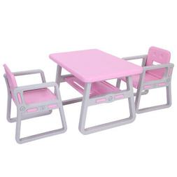 3PC Kids Table Chairs Set Room Furniture Activity Children's
