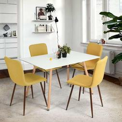 4 pc. dining chairs kitchen fabric with sturdy metal legs fo