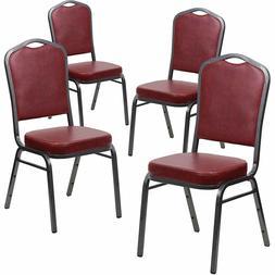 Flash Furniture 4 Pk. HERCULES Series Crown Back Stacking Ba