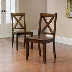 Sauder 419025 Dining Carson Forge Mahogany X-Back Chair