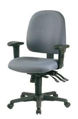 """OFFICE STAR 43808-226 Desk Chair Fabric Back Height 19"""" Gray"""