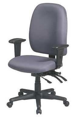 """OFFICE STAR 43998-226 Desk Chair,Fabric,Gray,17 to 21"""" Seat"""