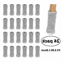 48 Pcs Chair Leg Cover Knit Sock Floor Protector Furniture T