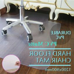 "48""x36"" Plastic Hard Floor Mat Protector Office Chair Wood F"