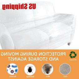 5 Mil Heavy Duty Clear Plastic Sofa Cover Furniture Chair St