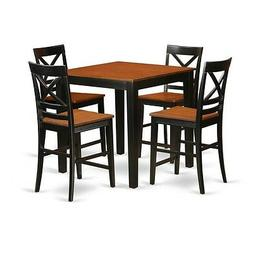 East West Furniture 5-Piece pub table set-pub table and 4 co