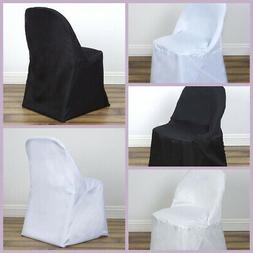 10 FOLDING Round Polyester CHAIR COVERS Wedding Party Banque