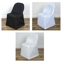50pcs Linen Polyester Folding Chair Cover Dinning Chair Slip