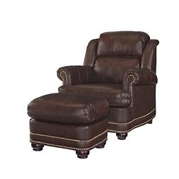 Home Styles 5200-100 Beau Stationary Chair and Ottoman, Brow